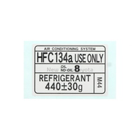Genuine Toyota Air Conditioner Service Caution Label Sticker Hfc134a Use Only Decal