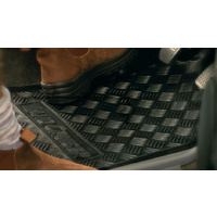 Genuine Toyota Land Cruiser 70 (not s/cab) Floor Mats Front Rubber 08/2012 Onwards