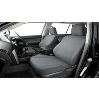Genuine Toyota Prado GX,GXL Front Seat Covers Grey Aug 2013 On PZQ22-60141-GY